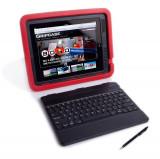 Gripcase Rosu : Husa stand tastatura stylus pt  Ipad 2 , 3 si 4 - ID3 60187, iPad 2/3/4