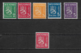 Finlanda 1945, 6 valori, Nestampilat