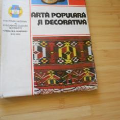 ARTA POPULARA SI DECORATIVA - 1981