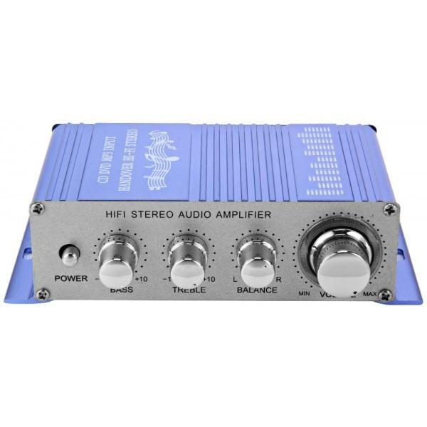 Amplificator auto, moto 2 canale USB / MP3 / FM / SD / DVD