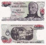 ARGENTINA 10 pesos ND (1983-84) P-313 UNC!!!