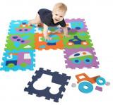 Covor Puzzle Din Spuma Vehicles 9 Piese