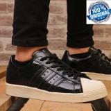 """ADIDASI ORIGINALI 100% Adidas Superstar 80' Leather """"Black liquid"""" Unisex nr 39, 39 1/3"""