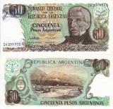 ARGENTINA 50 pesos ND 1983-85 UNC!!!