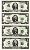 SUA 2 DOLARI TWO DOLLARS 2003 Declaratia de Indep.1776 UNC serii continue 4 buc.