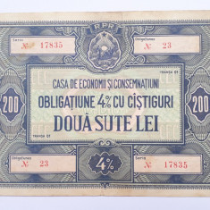 200 lei Obligatiune CEC RPR