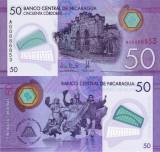 NICARAGUA 50 cordobas 2014 (2015) polymer UNC!!!