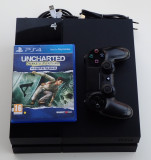 Consola Sony PlayStation 4 PS4 500Gb Black complet joc Uncharted impecabil