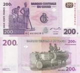 CONGO 200 francs 2007 UNC!!!