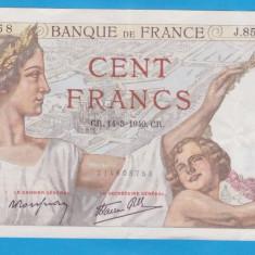 (1) BANCNOTA FRANTA - 100 FRANCS 1940 (14 MARTIE), STARE FOARTE BUNA