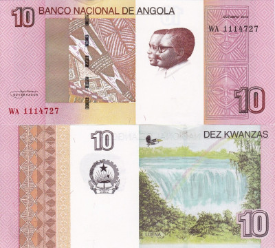 ANGOLA 10 kwanzas 2012 UNC!!! foto