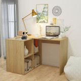Birou de scris cu raft de cărți 117x92x75,5 cm, stejar
