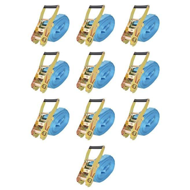 Chingi cu clichet, 10 buc, 4 tone, 8 m x 50 mm, albastru foto mare