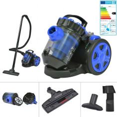 Aspirator Multiciclon fără sac pentru podea și covor, albastru