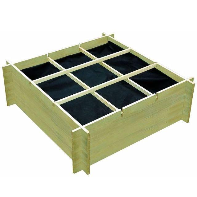 Jardinieră de legume, lemn de pin tratat, 120x120x40 cm