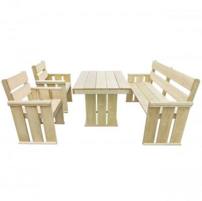 Set mobilier de exterior 4 piese, 110x75x74 cm, lemn pin tratat foto