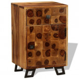 Noptieră din lemn masiv de sheesham, 37 x 30 x 54 cm