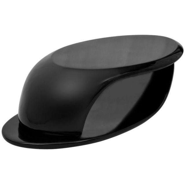 Măsuță de cafea din fibră de sticlă lucioasă, negru foto mare