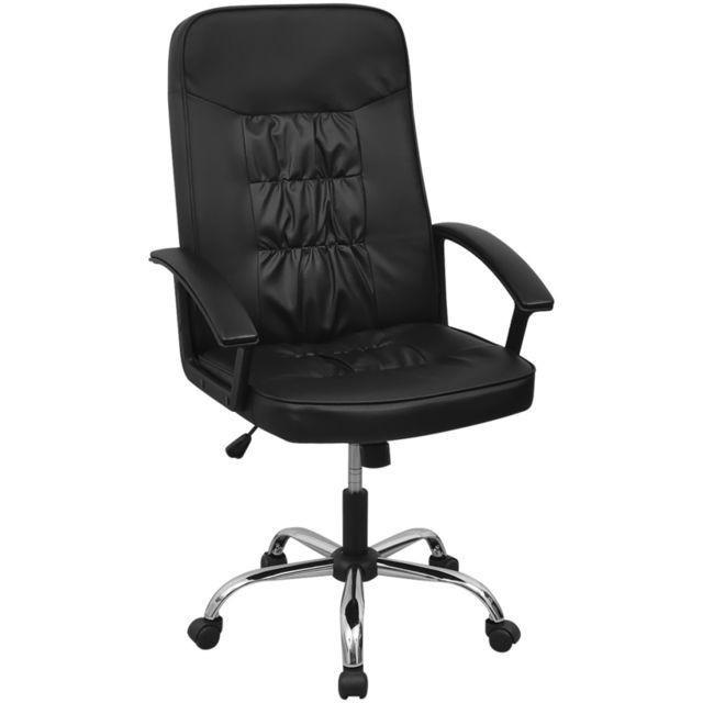 Scaun de birou din piele artificială 67 x 70 cm, negru