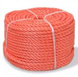 Frânghie împletită polipropilenă 12 mm 100 m, portocaliu