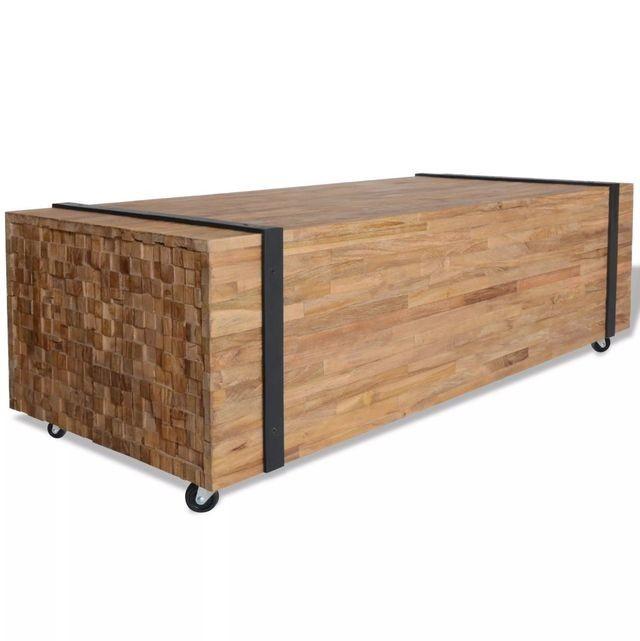 Masă de cafea din lemn de tec, 110 x 45 x 35 cm