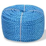 Frânghie împletită polipropilenă 12 mm 100 m, albastru