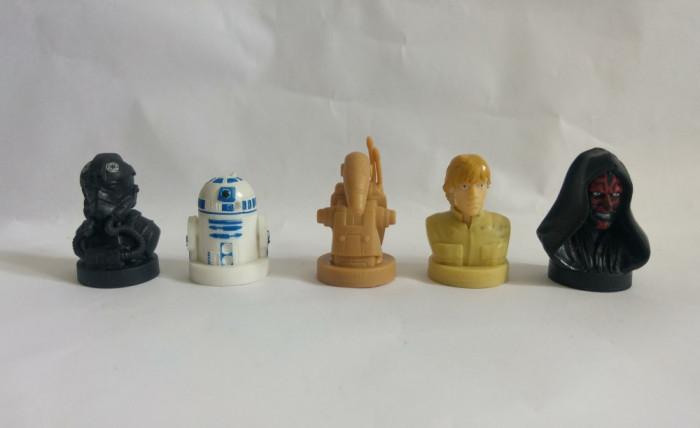 5 figurine stampile Star Wars, Razboiul stelelor, din cauciuc, colectie