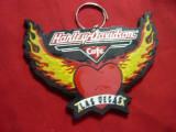 Emblema -breloc-Harley Davidson -Cafe Las Vegas - Motociclism ,plastic L=10x6cm