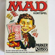 Joc de carti vintage MAD, 1980, Parker, grafica deosebita