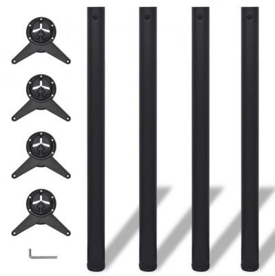 Picioare de masă cu înălțime reglabilă, 870 mm, negru, 4 buc foto