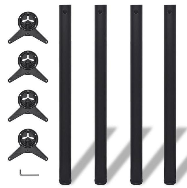 Picioare de masă cu înălțime reglabilă, 870 mm, negru, 4 buc