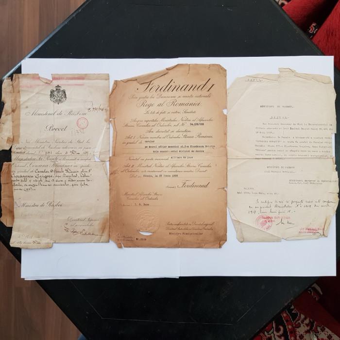 BREVETE-BREVETE OFITER MECANIC DIN MARINA ROMANA-TORPILORUL NALUCA-1916-1925