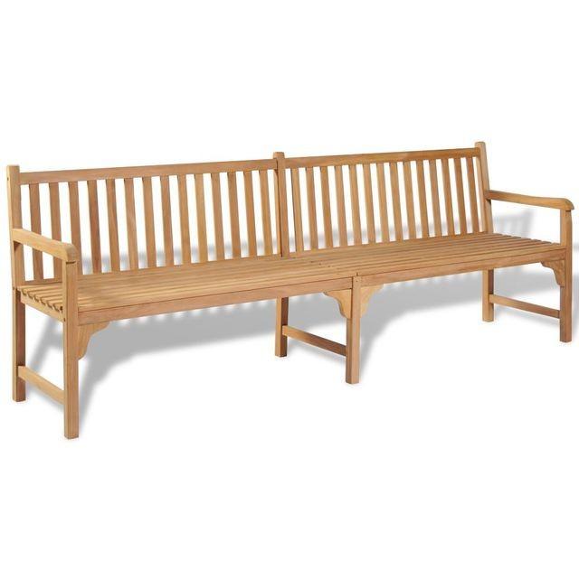 Bancă de exterior din lemn de tec 240 x 62,5 x 90 cm