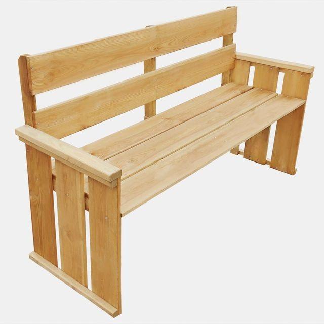 Bancă de grădină din lemn de pin tratat 160x55x89 cm