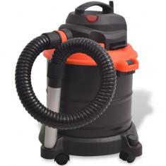 Aspirator pentru cenușă, 1200 W, 20 L, negru și portocaliu
