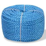 Frânghie împletită polipropilenă 10 mm 100 m, albastru