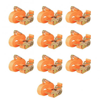 Chingi fixare cu clichet, 10 buc. 0,8 tone, 6mx25mm, portocaliu foto