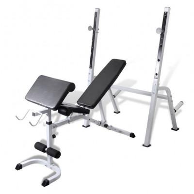 Bancă fitness multifuncțională pentru exerciții forță foto