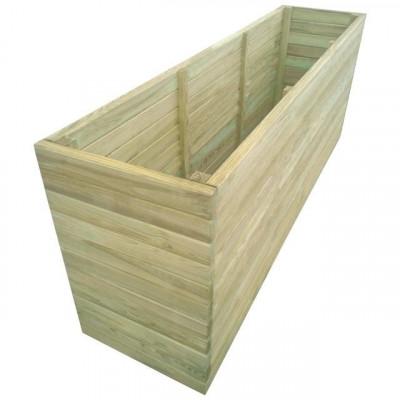 Jardinieră de grădină din lemn de pin tratat, 200 x 50 x 77 cm foto