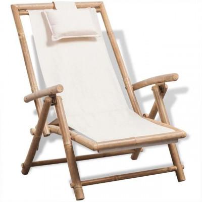 Scaun de terasa din lemn de bambus foto