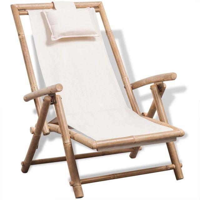 Scaun de terasa din lemn de bambus