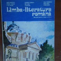 Limba si literatura romana. Manual pt clasa a11a, Clasa 11