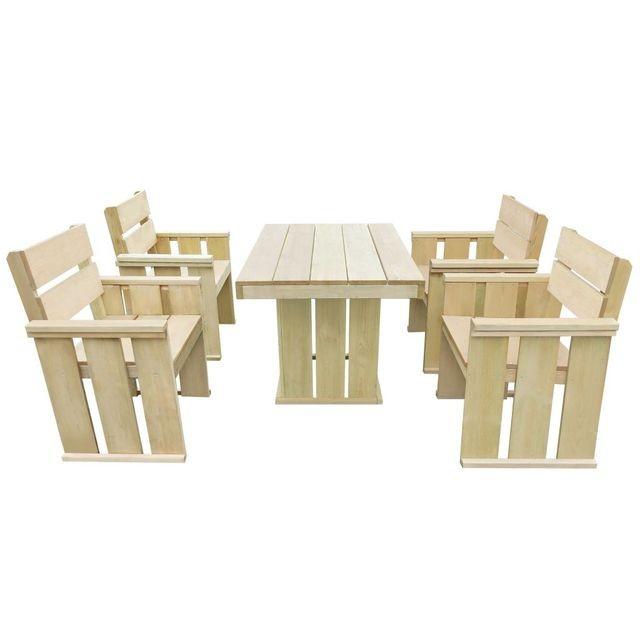 Set bar de exterior 110 x 75 x 74 cm, lemn de pin tratat