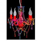 Lustră Cristal Artificial pentru 5 becuri Multicoloră