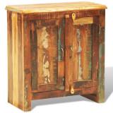 Dulap cu două uși din lemn reciclat în stil vintage