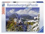 PUZZLE CASTELUL NEUSCHWANSTEIN IARNA, 3000 PIESE, Ravensburger