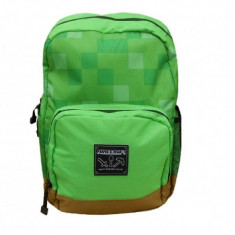 Ghiozdan Minecraft ORIGINAL Green World !! 2018 !!Mojang 40 cm, Unisex, Altele