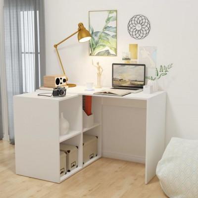 Birou cu raft de cărți 117x92x75,5 cm, alb foto
