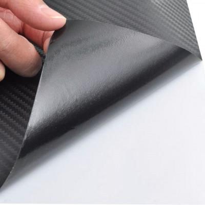 Autocolant folie din fibră de carbon 3D Negru 152 x 500 cm foto