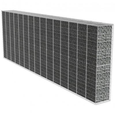 Zid gabion cu capac, 600 x 50 x 200 cm foto